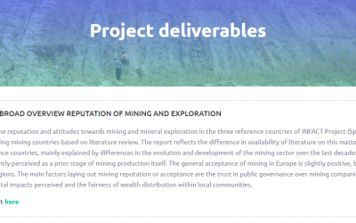Socio-scientific analysis studies factors determining social acceptance for mining activities at the project's reference sites